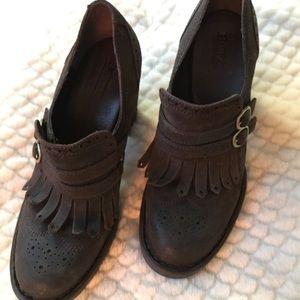 Born Hazel Fringed Leather Bootie/Pump
